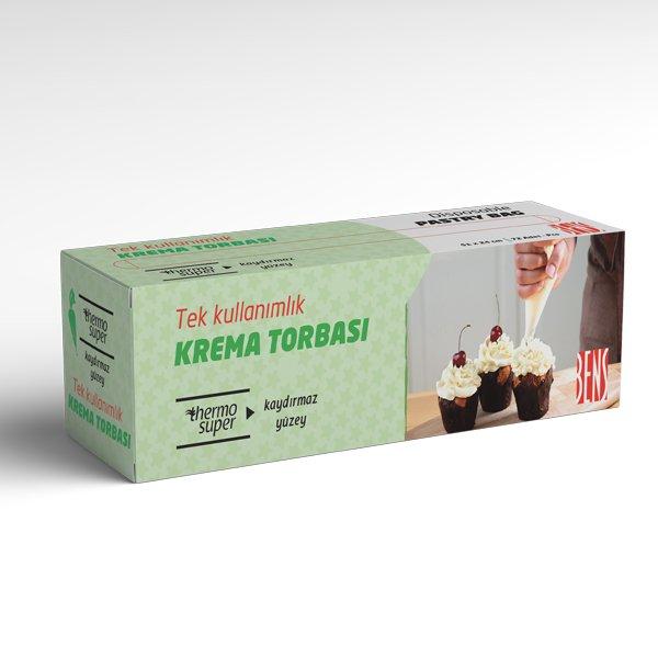 Tek Kullanımlık Krema Torbası Kaydırmaz Yüzey Açık Yeşil