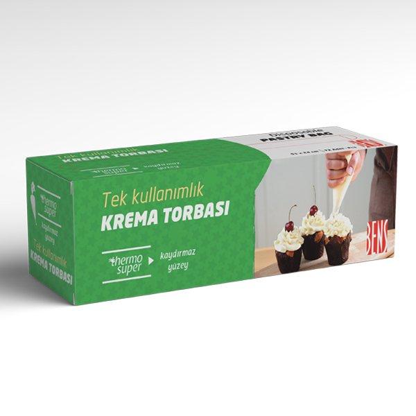 Tek Kullanımlık Krema Torbası Kaydırmaz Yüzey Koyu Yeşil